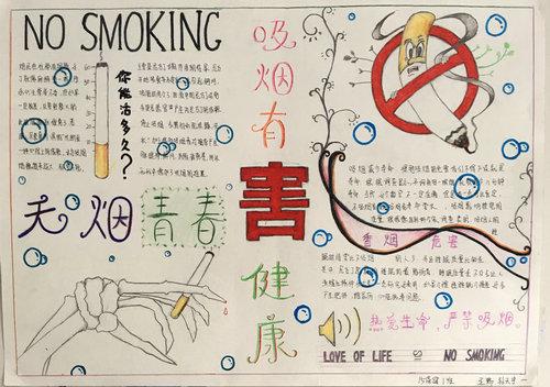 """健康管理系举办""""文明校园61科学戒烟""""手抄报比赛"""